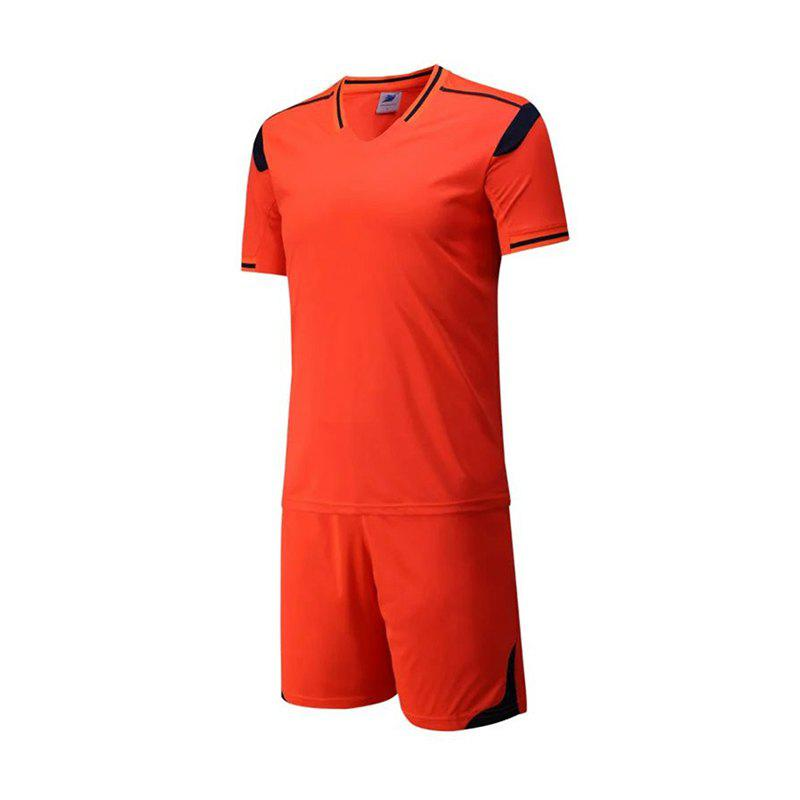 Men's Breathable Simple Style Sports Set - DARK ORANGE XL