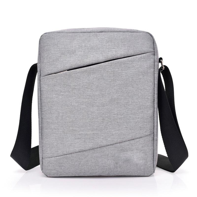 Messenger Shoulder Sports Backpack Student Large Capacity Bag - GRAY CLOUD