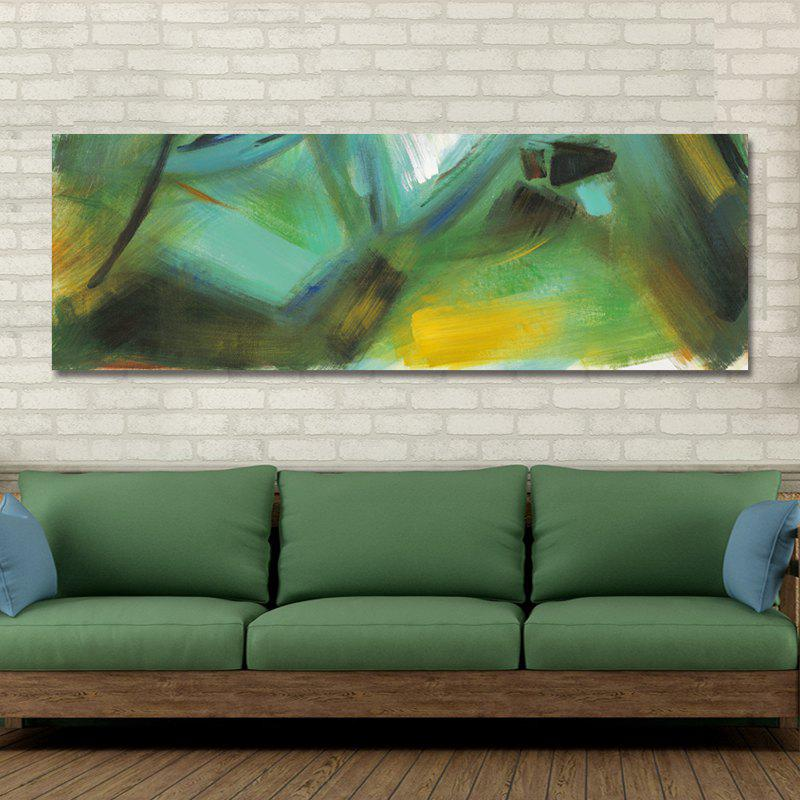 DYC 10913 Fashion Abstract Print Art - PINE GREEN