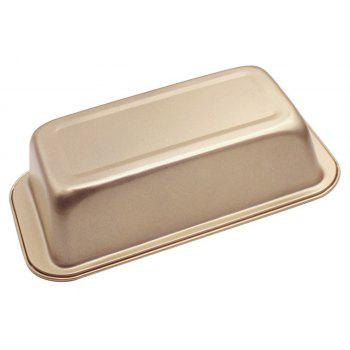 Rectangle Non Stick Loaf Carbon Steel Toast Bread Baking Pan - GOLDEN BROWN