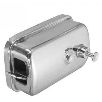 500ml Mounted Stainless Steel Manual Wall Mount Soap Dispenser for Bathroom Kitchen Hotel - SILVER