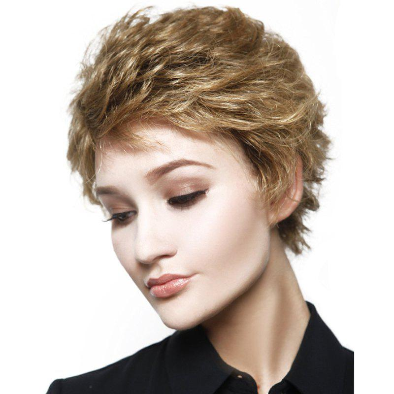New Fashion Women Curly Layered Synthetic Short Wigs - BLONDE