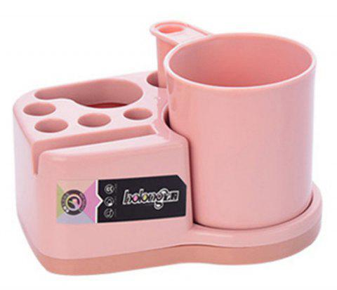 Cup Creative Mulyipurpose Practical Tooth Cup Toothbrush Holder Set - LIGHT PINK
