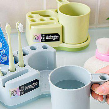 Cup Creative Mulyipurpose Pratique Tasse Dent Tooth Brush Set - [