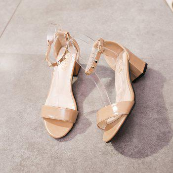 Coarse And Rivet Buckle Strap Anti-skid Sandal - BLANCHEDALMOND 37