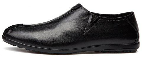 New Men'S Solid Color Classic Business Casual Shoes - BLACK 39