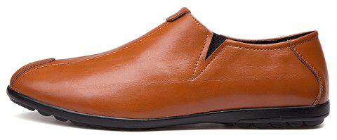 New Men'S Solid Color Classic Business Casual Shoes - RUST 39