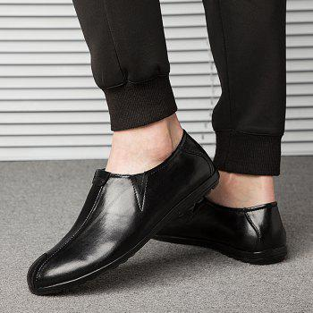 New Men'S Solid Color Classic Business Casual Shoes - BLACK 42