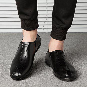 New Men'S Solid Color Classic Business Casual Shoes - BLACK SIZE(44-45)