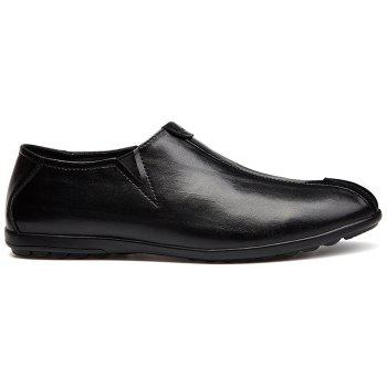 New Men'S Solid Color Classic Business Casual Shoes - BLACK 43