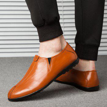 New Men'S Solid Color Classic Business Casual Shoes - RUST 42