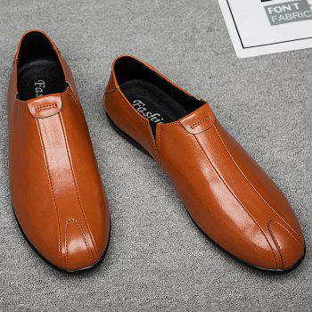New Men'S Solid Color Classic Business Casual Shoes - RUST 41
