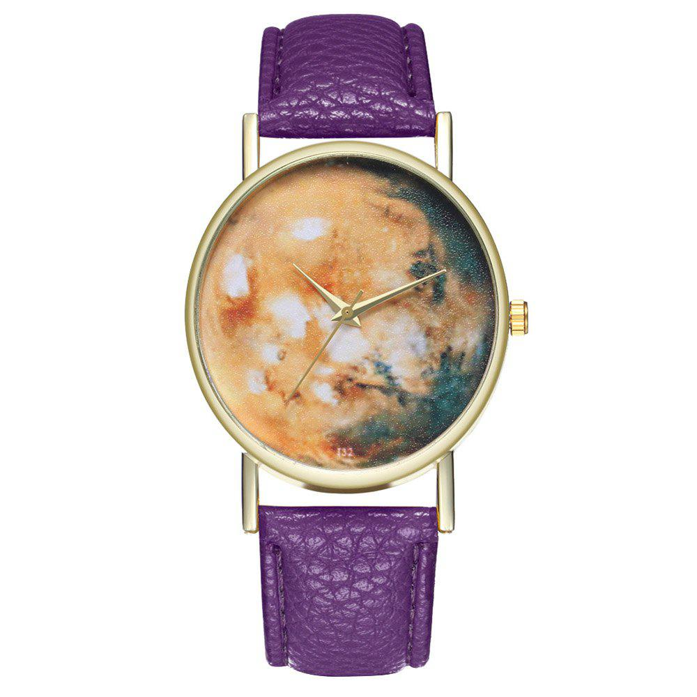 Zhou Lianfa Brand Star Astronomical Leather Watch - PURPLE