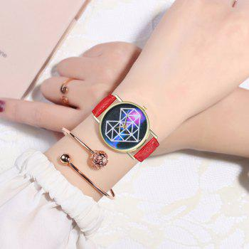 Zhou Lianfa Brand Geometric Heart Space Fashion Watch - RED