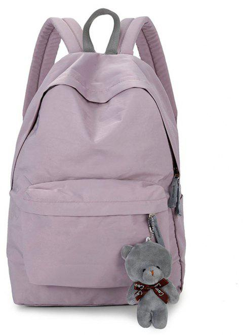 Small Fresh Fashion Simple Solid Color Wild Large-Capacity Student Female Travel Backpack Tide - GRAY