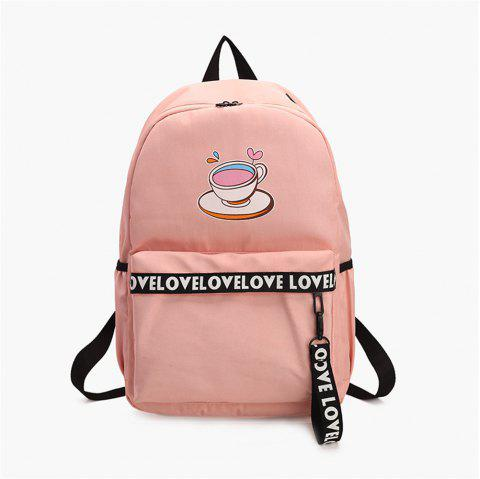 Large Capacity Wild Simple Fashion Small Fresh Female Students Backpack Tide - PINK