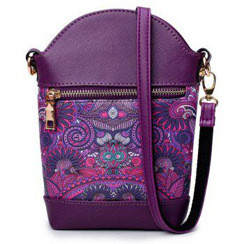 Fashion Painting Simple and Cute Fresh Small Wild Shoulder Diagonal Bucket Bag Tide - VIOLET