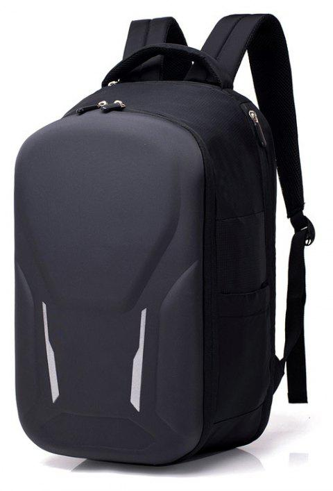 Nylon Backpack Large-capacity Business Anti-theft Multi-function Computer - BLACK 28*20*47CM