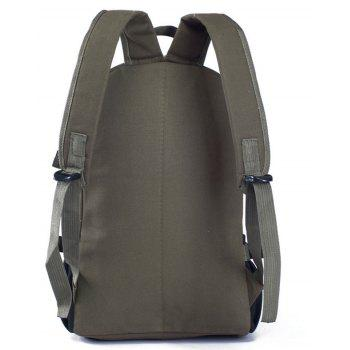 Couple Side Pocket Canvas Backpack - GRAYISH TURQUOISE VERTICAL