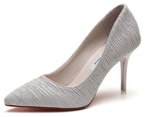 Spring and Summer New Pointed Stiletto Heels - GRAY 39