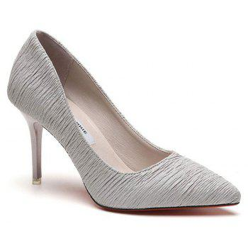 Printemps et Été New Talons Stiletto Pointus - gris 35