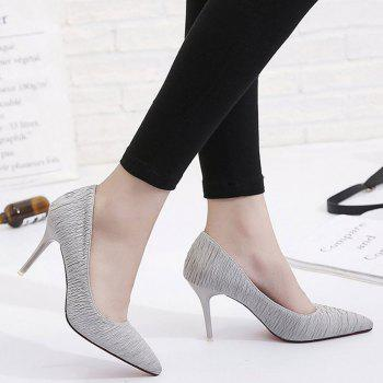 Spring and Summer New Pointed Stiletto Heels - GRAY 37