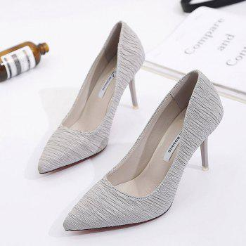 Spring and Summer New Pointed Stiletto Heels - GRAY 38