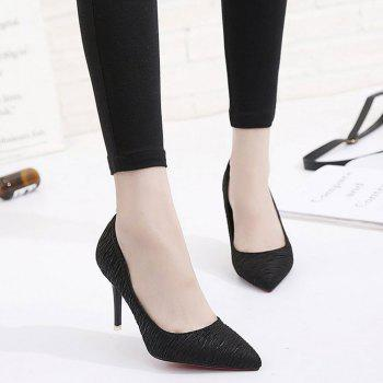 Spring and Summer New Pointed Stiletto Heels - BLACK 37
