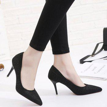 Spring and Summer New Pointed Stiletto Heels - BLACK 38