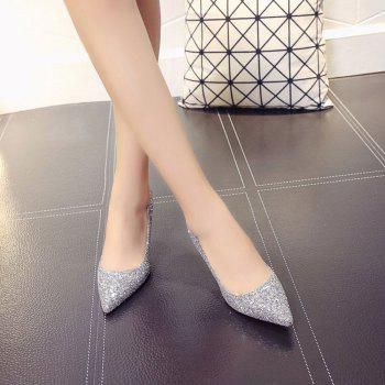 Spring and Summer New Pointed Classic Sequins High Heels - GRAY 38
