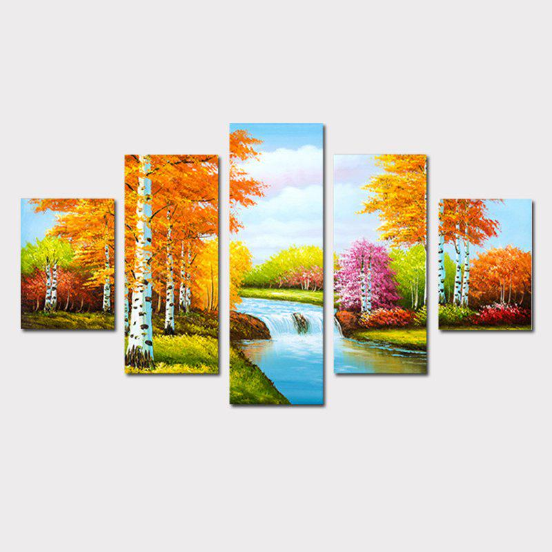 Qiaojiahuayuan No Frame Canvas European Style Living Room Drawing Living Room Sofa Background Hanging Painting 5pcs