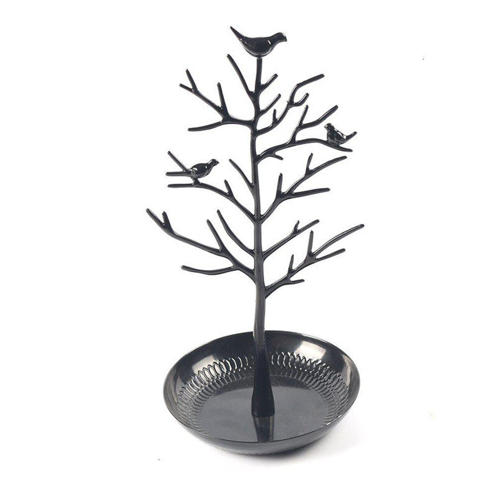 Bird Tree Holder Jewelry Display Rack - BLACK