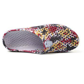 Breathable Comfortable Hollow Out Men's Slippers - CRANBERRY 41