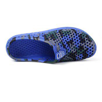 Breathable Comfortable Hollow Out Men's Slippers - DENIM DARK BLUE 44