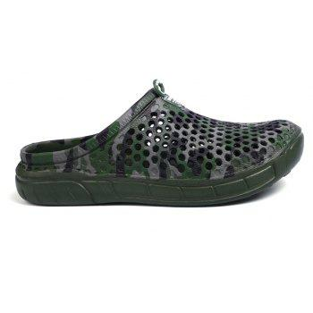 Breathable Comfortable Hollow Out Men's Slippers - SEAWEED GREEN 40