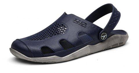 Breathable Comfortable Leather Sandals for Men - MIDNIGHT BLUE 43