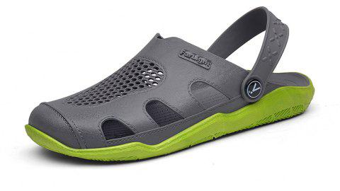 Breathable Comfortable Leather Sandals for Men - GREEN APPLE 42