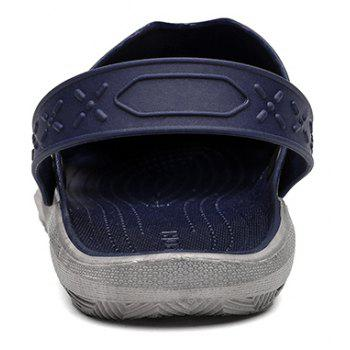 Breathable Comfortable Leather Sandals for Men - MIDNIGHT BLUE 42