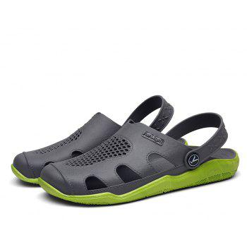 Breathable Comfortable Leather Sandals for Men - GREEN APPLE 43