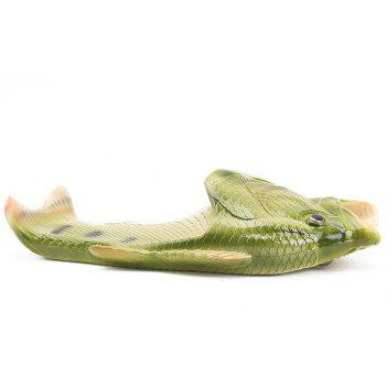 Breathable Comfortable Fish Type Slippers for Men - SEAWEED GREEN 42