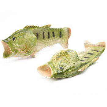 Breathable Comfortable Fish Type Slippers for Men - SEAWEED GREEN 38
