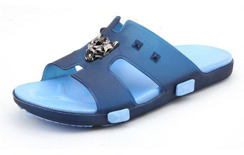 Breathable Comfortable Jelly Slippers for Men - EARTH BLUE 44