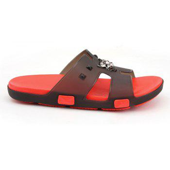 Breathable Comfortable Jelly Slippers for Men - FIRE ENGINE RED 42