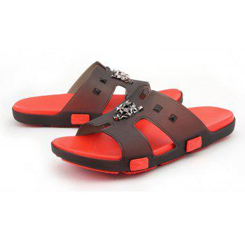 Breathable Comfortable Jelly Slippers for Men - FIRE ENGINE RED 44