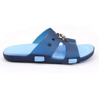 Breathable Comfortable Jelly Slippers for Men - EARTH BLUE 42