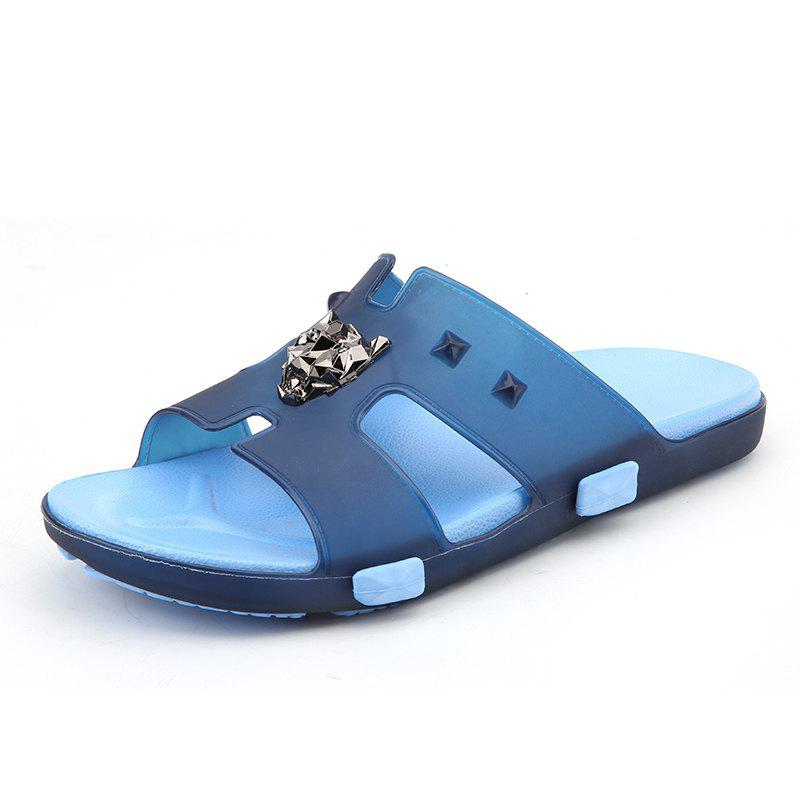 Breathable Comfortable Jelly Slippers for Men - EARTH BLUE 43