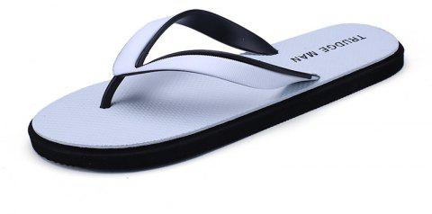 Comfortable Beach Flip Flops Slippers for Men - WHITE 41