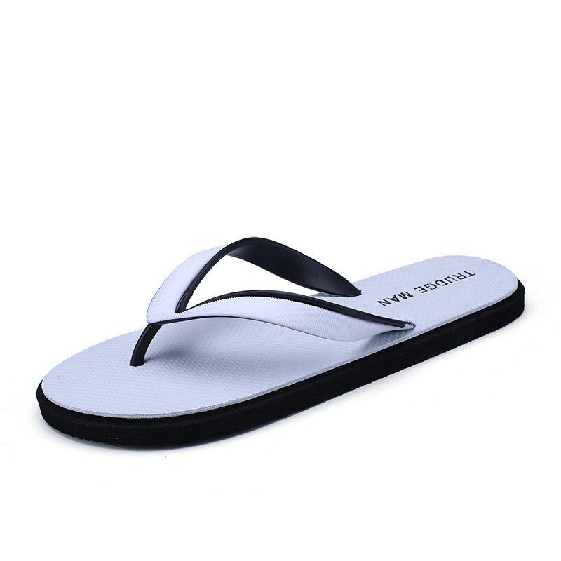 Comfortable Beach Flip Flops Slippers for Men - WHITE 39