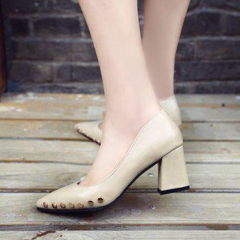 Shallow Mouth Nail All-match High Heels Shoes - WHITE 40