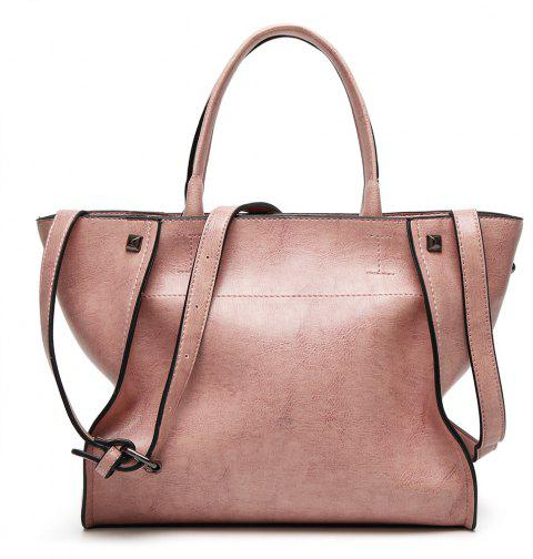 Fashion Simple Tote Baodan Diagonal Casual Handbags Large-Capacity Female Bag - LIGHT PINK